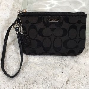 Coach small zipper wristlet